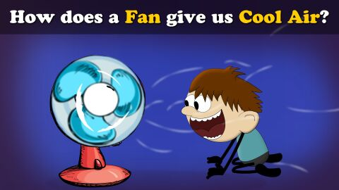 How does a fan give us cool air?