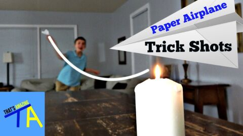 Paper Airplane Trick Shots- part 2