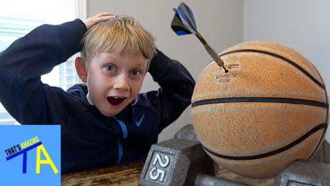 Trick shots by a 7-year old