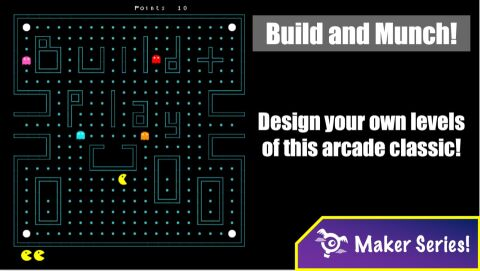 Build and munch - Arcade Classic!